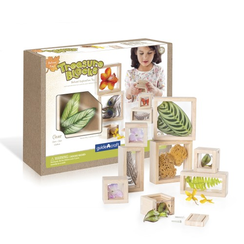Natural Play Treasure Blocks - Clear - 8 darabos készlet