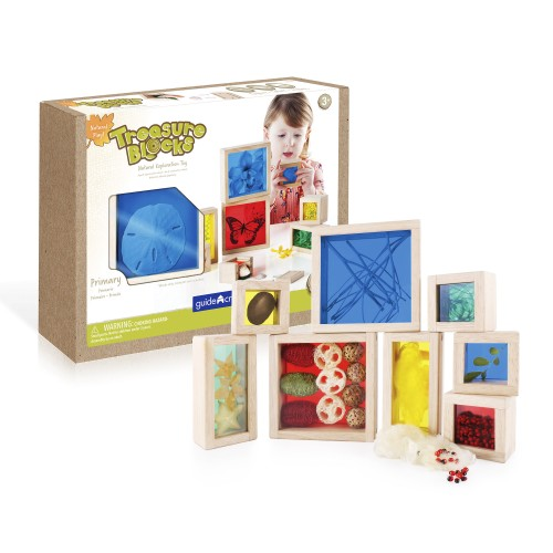 Natural Play Treasure Blocks - Primary - 8 darabos készlet