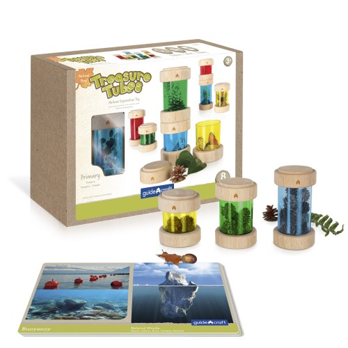 Natural Play Treasure Tubes - Primary - 8 darabos készlet