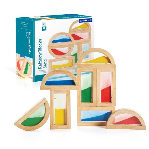 Block Play Rainbow Blocks - Sand