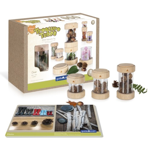 Natural Play Treasure Tubes - Clear - 8 darabos készlet