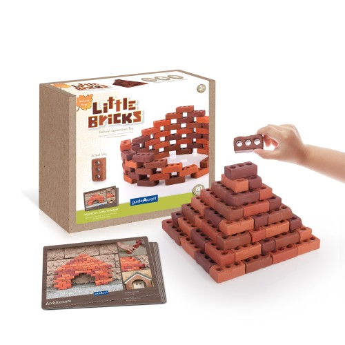 Natural Play Little Bricks – 60 darabos készlet